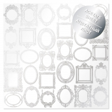 "Acetate foiled sheet ""Silver Frames"""