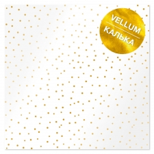 "Gold foiled vellum sheet ""Golden Mini Drops"""