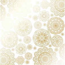 "Sheet of single-sided paper embossed by golden foil ""Golden Napkins White"""