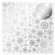 """Ацетатный лист с фольгированием """"Silver Snowflakes"""""""