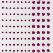 Adhesive Strass Stones - fuchsia