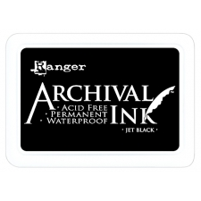 Штемпельная подушка Archival Ink Jet Black