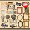 """Double-sided scrapbooking paper set """"Shabby memory"""", 8""""x 8"""" , Fabrika Decoru"""