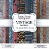 "Double-sided scrapbooking paper set ""Vintage texture"", 12""x 12"" , Fabrika Deсoru"