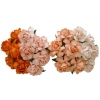 20 MIXED PEACH ORANGE MULBERRY PAPER COTTAGE ROSES.jpg