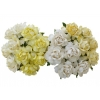 20 MIXED WHITE CREAM MULBERRY PAPER COTTAGE ROSES.jpg