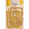 "Set of gold foiled frames №2 ""Kraft "" 50pcs"
