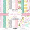 "Double-sided scrapbooking paper set ""Little elephant"", 12""x 12"" , Fabrika Deсoru"