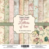 "Double-sided scrapbooking paper set ""Letters of love"", 12"